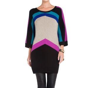 BCBGMAXAZRIA Small Color Block Faiza Sweater Dress